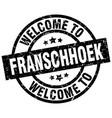 welcome to franschhoek black stamp vector image vector image