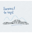 Poster forward to tops Mountains logo vector image