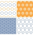 Four abstract arrows and circles motives seamless vector image