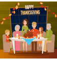 1608i029002Sm005c15big family sitting at the table vector image vector image