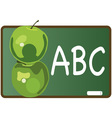 ABC Apples vector image vector image