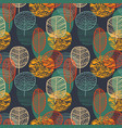 abstract autumn seamless pattern with trees