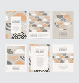 abstract design brochure set vector image