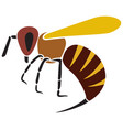 angry bee vector image vector image