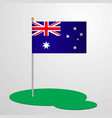 australia flag pole vector image