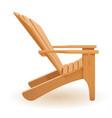 beach or garden armchair lounger deckchair made vector image