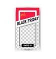 black friday sale - vertical banner vector image vector image
