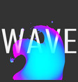 blue and pink splash wave liquid effect on the vector image vector image