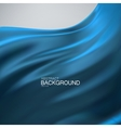 Blue silk fabric vector image vector image