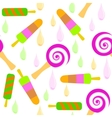 Bright pattern of colorful Popsicle vector image