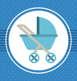 cart baby vector image vector image