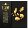 Casino Gambling background vector image vector image