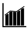 chart icon on transparent background chart sign vector image