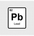 chemical element lead vector image vector image