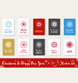 christmas and happy new year set vector image vector image