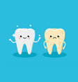 cleaning and whitening teeth concept vector image vector image