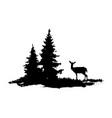 composition forest silhouette landscape vector image