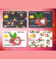 credit card design with juicy lychee vector image vector image