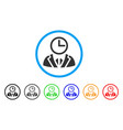 duty person rounded icon vector image vector image
