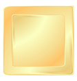 empty golden square frame template for banners or vector image vector image