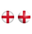 england flag under 3d dome button and on glossy vector image vector image