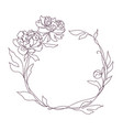 floral frame wreath with stylized flowers vector image vector image