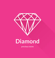 Geometric faceted diamond shape logo vector image
