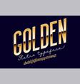 gold metal alphabet vector image vector image
