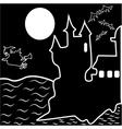Halloween haunted castle bats witch vector image vector image
