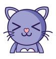 happy cat adorable feline animal vector image