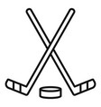 ice hockey stick icon outline style vector image