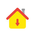 icon concept of house with arrow moving down vector image