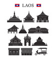 laos landmarks and culture object set vector image vector image