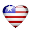 Liberia flag button vector image vector image