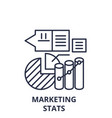 marketing stats line icon concept marketing stats vector image