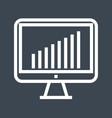 monitor thin line icon vector image