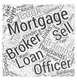 Mortgage Brokers and Loan Officers Word Cloud vector image vector image