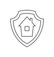 mortgage protection icon outline mortgage vector image