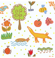 Nature and environmnent seamless pattern vector image