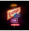 Neon sign Lounge bar vector image vector image