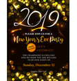 new year 2019 invitation vector image vector image