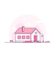 nice house - modern thin line design style vector image vector image
