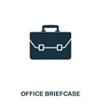 office briefcase icon line style icon design ui vector image