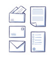 office messages and envelopes with pages vector image vector image