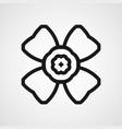 ornamental black logo vector image vector image