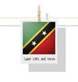 photo of saint kitts and nevis flag vector image