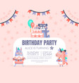 pink invitation with background stars for a vector image
