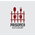 prisoner restaurant concept design template vector image