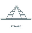 pyramid line icon linear concept outline vector image