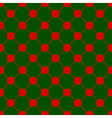 Red Polka dot Chess Board Grid Green Background vector image vector image
